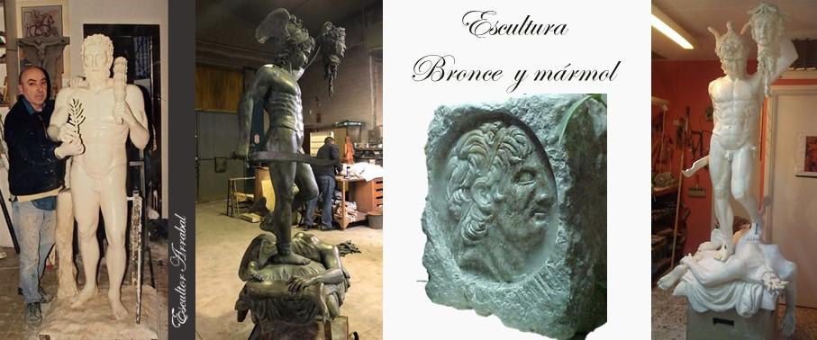 Mármol y bronce