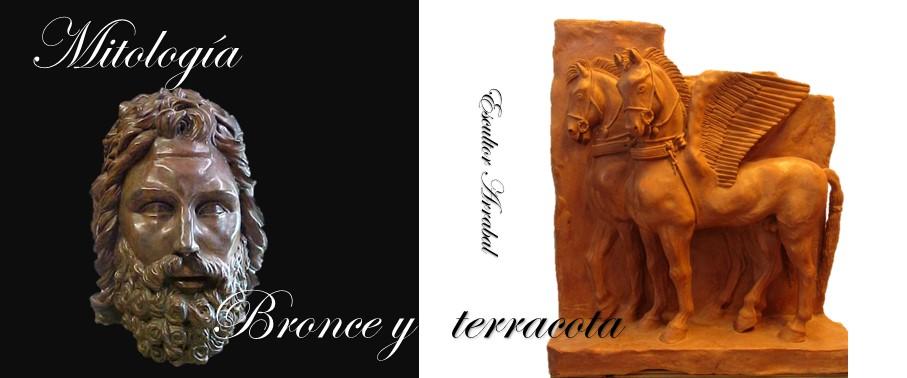 Mitología mármol y bronce